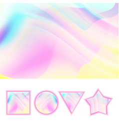 girlie background abstract holographic vector image