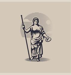 Goddess hera or juno vector