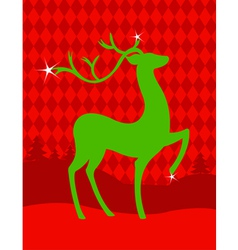 green christmas deer vector image
