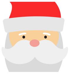 greeting card with santa claus big head face vector image