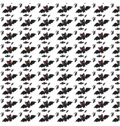 halloween bats pattern vector image