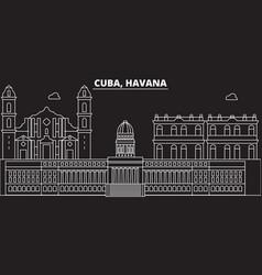 havana silhouette skyline cuba - havana vector image
