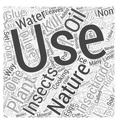 How to Use NonPlant Natural Insecticide Word Cloud vector