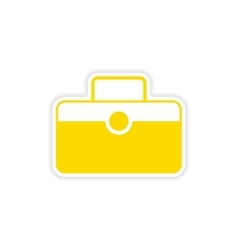 Icon sticker realistic design on paper baggage vector