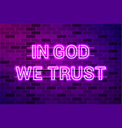 In god we trust official motto united vector