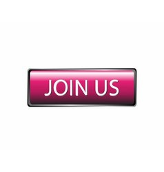 Join us button isolated vector