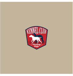 Kennel club emblem vector