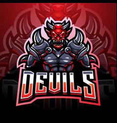 King devil esport mascot logo design vector