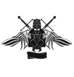 Knight skull vector