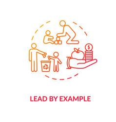 Lead example concept icon vector