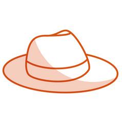Male tourist hat icon vector