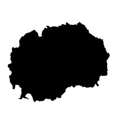 Map macedonia isolated black vector