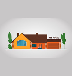 modern flat townhouse cottage home front view vector image