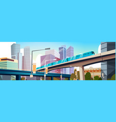 Modern urban panorama with high skyscrapers and vector