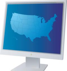 monitor us vector image