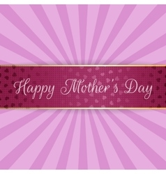 Mothers Day realistic festive bend Banner vector