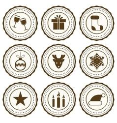 New Year celebration icons set vector image
