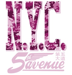 New York City fifth avenue vector image