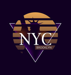 nyc print typography design new york pattern on vector image