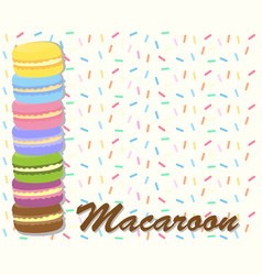 Paper template with macaroon cookies vector
