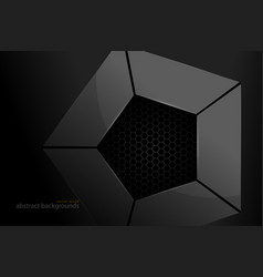 pentagonal metal shape scene vector image