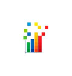 pixel statistic logo icon design vector image