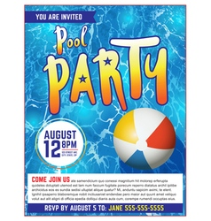 Pool party flyer vector