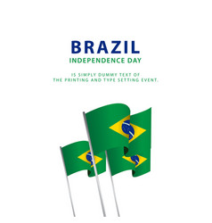 Poster brazilhappy brazil independence day poster vector