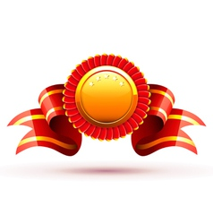 red badge vector image