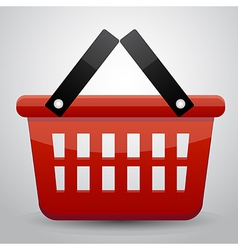 Red basket shopping vector image vector image