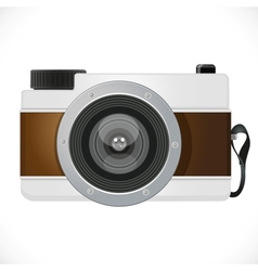 Retro camera isolated on white background vector image