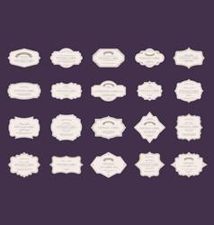 retro elegant labels vintage ornamental shapes vector image