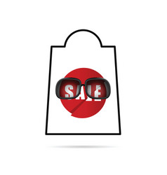 sale icon in red color vector image