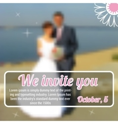 Sample template of invitation to wedding vector image