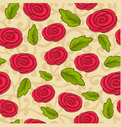 Seamless pattern with rose vector