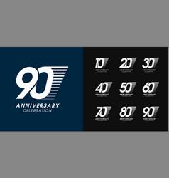 set anniversary logotype premium anniversary vector image