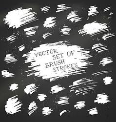 Set of chalk brush strokes vector image