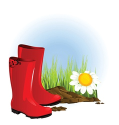 Set of gumboots vector