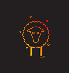sheep icon design vector image