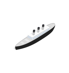 Ship icon isometric 3d style vector image