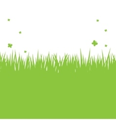 Silhouette of green grass on a white background vector image