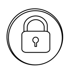 Silhouette symbol lock icon vector