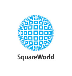 square world pattern logo concept design symbol vector image
