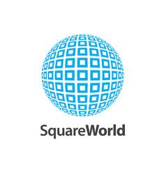 Square world pattern logo concept design symbol vector