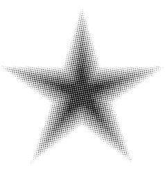 Star halftone effect pentagonal star vector