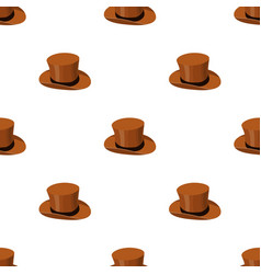 top hat icon in cartoon style isolated on white vector image