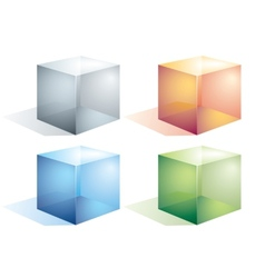 Transparent cubes vector image