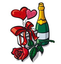Valentine day anniversary vector