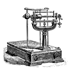 vintage engraving a mechanical weighing scale vector image