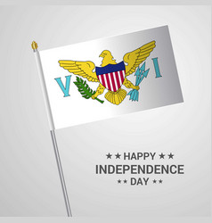 Virgin islands us independence day typographic vector